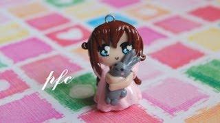 getlinkyoutube.com-DIY Sweet Dreams Chibi Polymer Clay Charm Tutorial