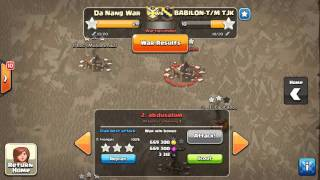 getlinkyoutube.com-Clan wars 29/30 stars base 1 & 2 th10 max def