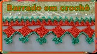 getlinkyoutube.com-Bico em crochê para pano de prato, toalhas de rosto modelo 21