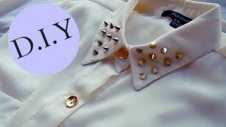 getlinkyoutube.com-DIY - Decora el cuello de tu blusa fácil