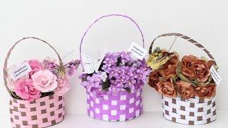 getlinkyoutube.com-Cestinha de flores para lembrancinha