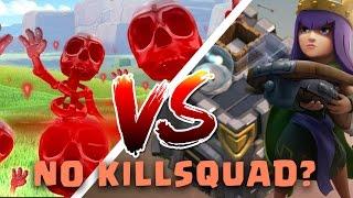 getlinkyoutube.com-New War Tech   Skeleton Spell Kill Queen & CC   TH9 War Cleanup #22