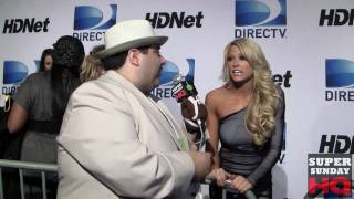 getlinkyoutube.com-Sexy WWE Diva Kelly Kelly Interview at Mark Cuban Super Bowl Party HD