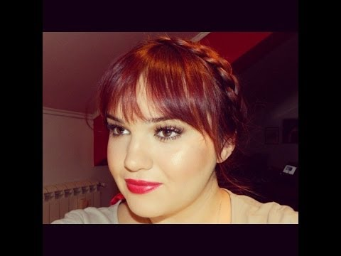Frizura - kako kruna od pletenice  (crown braid tutorial)