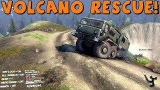 getlinkyoutube.com-Spin Tires | Multiplayer | Volcano Rescue! with CustomMapCinema