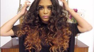 getlinkyoutube.com-How To: Big Curly Hair GRWM for Work