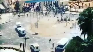 Vidéo – affrontements à l'UCAD: Deux véhicules de police se heurtent