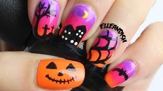 getlinkyoutube.com-Halloween Nails - Spooky Sunset