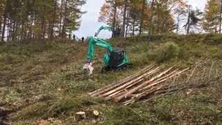 コベルコ建機 林業機械展示会