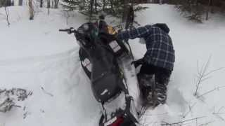getlinkyoutube.com-Snowmobile Fails 2014