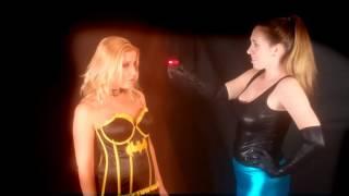 getlinkyoutube.com-Beautiful blonde Superheroine hypnotized by a magic ring