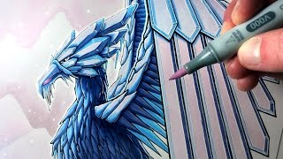 getlinkyoutube.com-Let's Draw an ICE PHOENIX - FANTASY ART FRIDAY