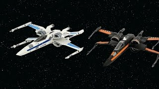 Star Wars: The Force Awakens Poe's X-Wing & Resistance X-Wing Disney Exclusive Unboxing & Review!!