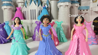 getlinkyoutube.com-Rare MAGICLICP Mulan Pocahontas Jasmine Disney Princess Little Kingdom exclusive Fashions dolls
