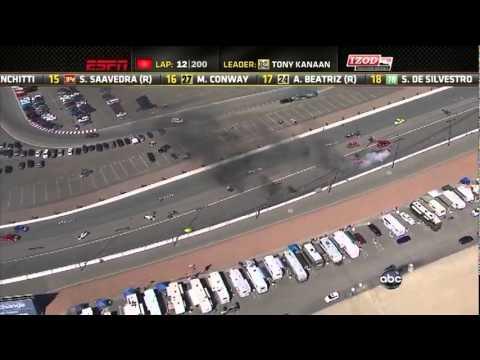 Indy 2011: acidente em Las Vegas envolve 15 carros e interrompe corrida