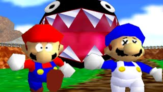 getlinkyoutube.com-super mario 64 bloopers: Who let the chomp out?