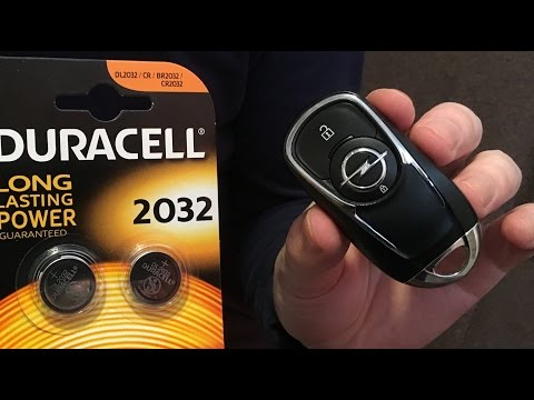 Vauxhall | Opel Astra K and Insignia NEW key battery replace