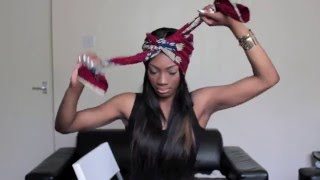 getlinkyoutube.com-HOW TO: Tie A Head Wrap/ Turban Into 3 Different Styles