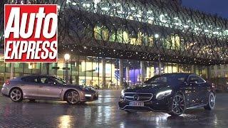 getlinkyoutube.com-Mercedes S63 AMG Coupe vs Porsche Panamera Turbo S