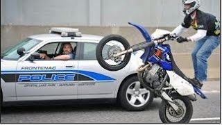 Piques En Moto Desafiando la Policia en Estados Unidos