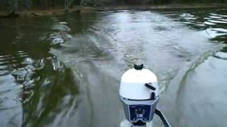 getlinkyoutube.com-Evinrude 2 hp jon boat!!