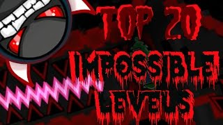 getlinkyoutube.com-Top 20 Most Impossible Levels In Geometry Dash (Gameplays by ToshDeluxe)