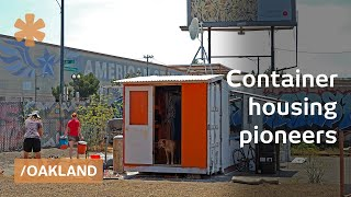 getlinkyoutube.com-Containertopia: cargo container tiny home town on Oakland lot