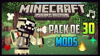 getlinkyoutube.com-Pack De 30 Mods Para Minecraft Pocket Edition 1.0 [Sin Textura]