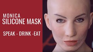 getlinkyoutube.com-Female silicone Mask - Eat, drink and speak with Crea Fx silicone mask