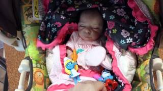 getlinkyoutube.com-Dinner with Reborn baby Heavenly & reactions at Carter's
