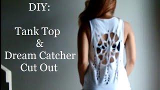 getlinkyoutube.com-DIY: How To Cut A T-Shirt Into A Tank Top + Dream Catcher Shirt Cut Out