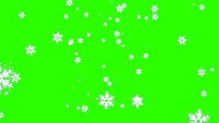 getlinkyoutube.com-Neve Caindo #1 - Snow Falling #1 [Fundo Verde - Green Screen]