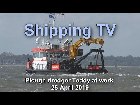 Click to view video Plough dredger Teddy at work, 25 April 2019