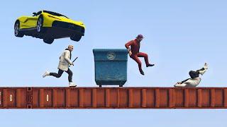 getlinkyoutube.com-RUN OR GET CRUSHED! (GTA 5 Funny Moments)
