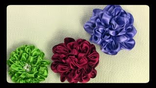 getlinkyoutube.com-كيف تصنع ي وردة جميلة  معجنة من الساتان باللون المناسب لملابسك