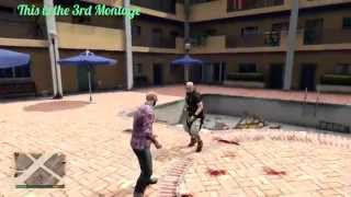 #3 GTA 5 Wrestling And Street Fighting Like in WWE(Spear , Curb Stomp , powerslam...