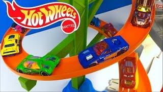 getlinkyoutube.com-HOTWHEELS ULTIMATE GARAGE SLOW MOTION - HOT WHEELS & MATCHBOX CARS DISNEY CARS LIGHTNING MCQUEEN
