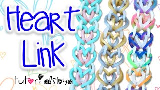 getlinkyoutube.com-NEW Heart Link Rainbow Loom Bracelet Tutorial | How To