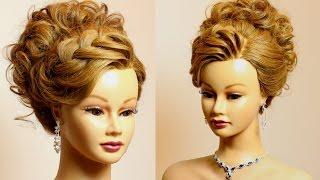 getlinkyoutube.com-Prom bridal updo. Hairstyle for long medium hair