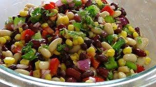 getlinkyoutube.com-Mexican Bean salad سلطة الفاصوليا المكسيكية