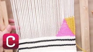 getlinkyoutube.com-Weaving for Beginners Part 4: Add Stripes and Geometric Shapes with Annabel Wrigley | Creativebug