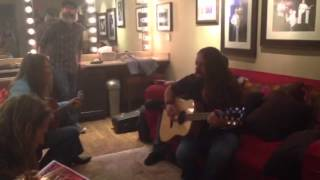 getlinkyoutube.com-Blackberry Smoke's Charlie and Paul Warming Up at the Grand Ole Opry