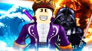 getlinkyoutube.com-TRAVOLTO DA UN'ONDA GIGANTE E UCCISO DA DARTH VADER - Roblox