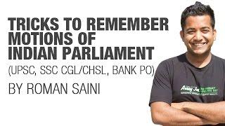 getlinkyoutube.com-Tricks to remember motions of Indian Parliament {UPSC CSE/IAS, SSC CGL/CHSL, Bank (IBPS/SBI)}