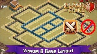 getlinkyoutube.com-Clash Of Clans: TH8 | BEST Clan War Base Layout (Anti-Dragon) - Venom 8