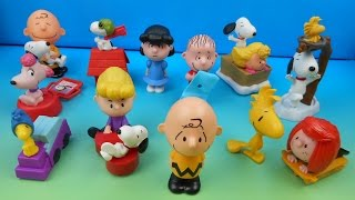 getlinkyoutube.com-2015 THE PEANUTS MOVIE SET OF 12 McDONALD'S HAPPY MEAL KIDS TOYS VIDEO REVIEW