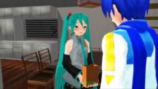 getlinkyoutube.com-MMD Kaito Miku Valentine's Day Special: Love is Sweeter (HD 1080p)