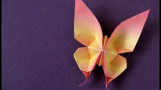 getlinkyoutube.com-Origami Swallowtail Butterfly (first version)