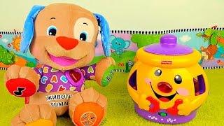getlinkyoutube.com-Мультик с игрушками для самых маленьких - Умный Щенок и Чудесный горшочек Fisher Price