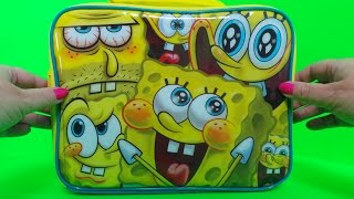 getlinkyoutube.com-🏖 Spongebob Squarepants Lunchbox Toy Surprises - Epic Unwrapping